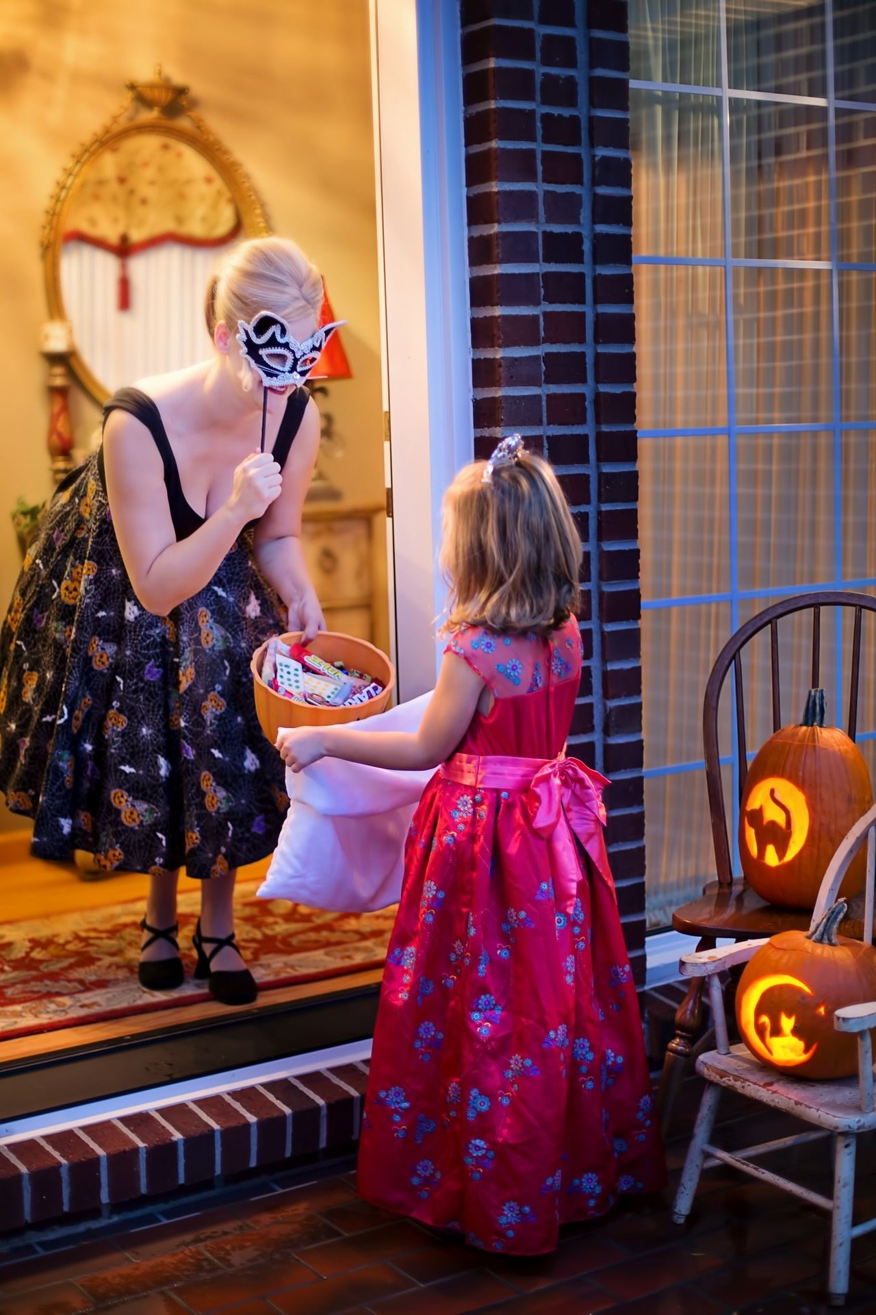 Trick Or Treating Photo of Kid at Door